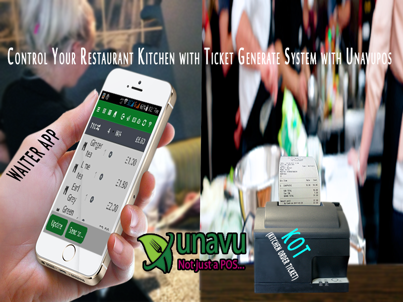 Control Your Restaurant Kitchen With Ticket Generate System With
